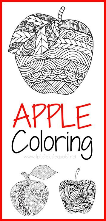 Awesome Apple Coloring Pages for Adults or Kids! Free!