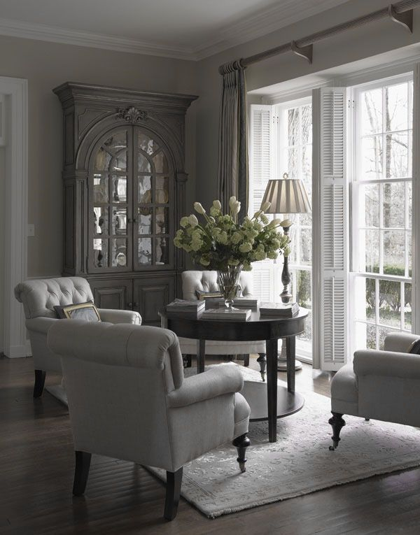 Dove Gray Home Decor Great Tufted Chairs