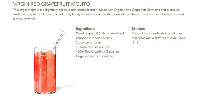Virgin Red Grapefruit Mojito #Galvanina #drink #recipe