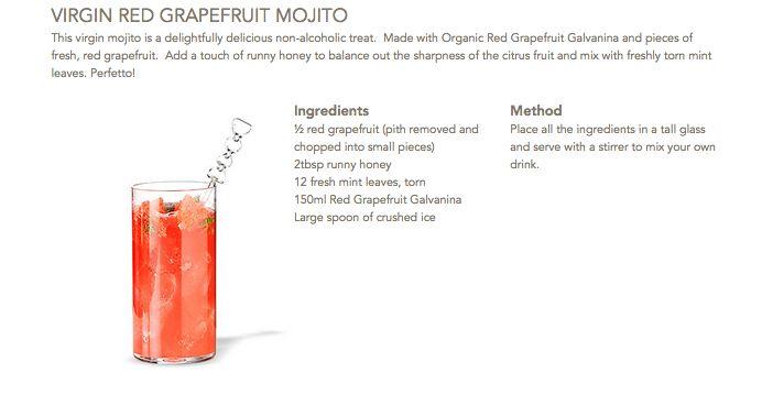 Virgin Red Grapefruit Mojito #Galvanina #drink #recipe