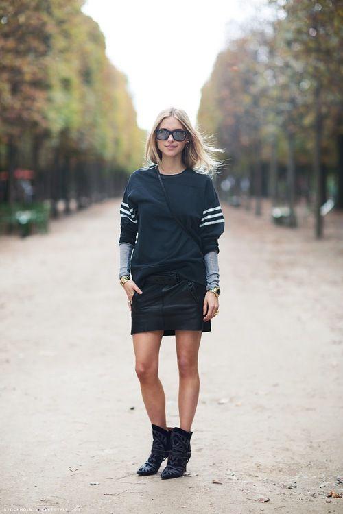 Streetstyle during Paris Fashion Week, Spring 2013