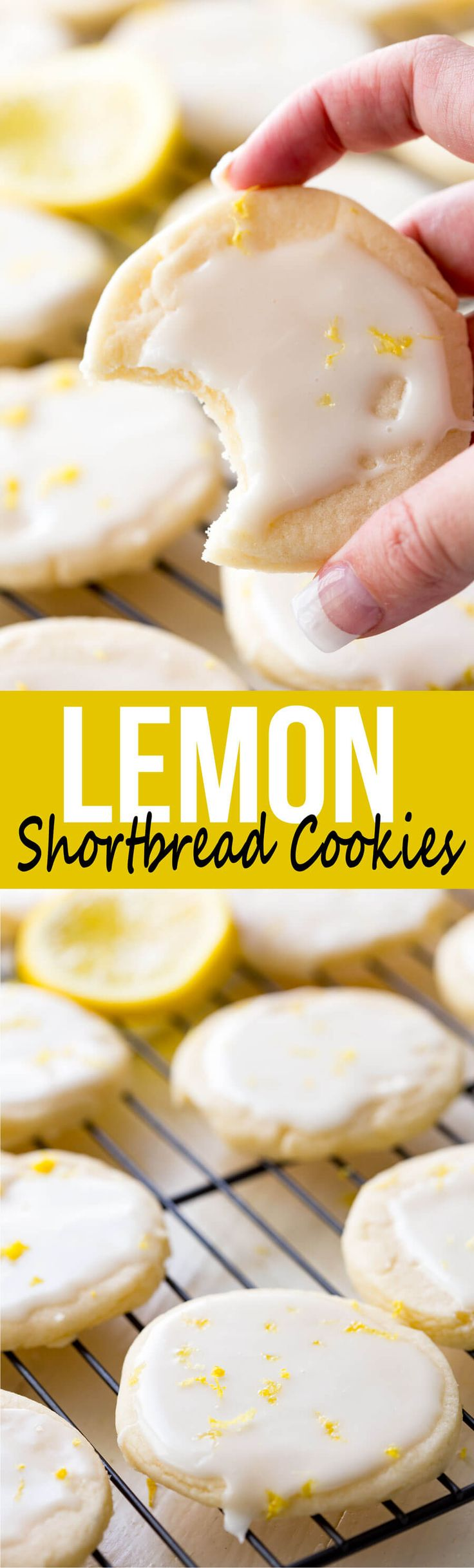 Lemon Shortbread Cookies: Light, buttery cookies offer a subtle lemon flavor topped with a bright and vibrant lemon glaze, giving you a mouthful of goodness.  via @Rachael Yerkes