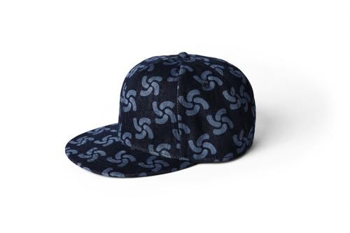 "G-Star RAW's ""Printed denim cap"" from the RAW for the Oceans 2014 collection, a collaboration between G-Star RAW and partners Bionic Yarn and Parley for the Oceans."