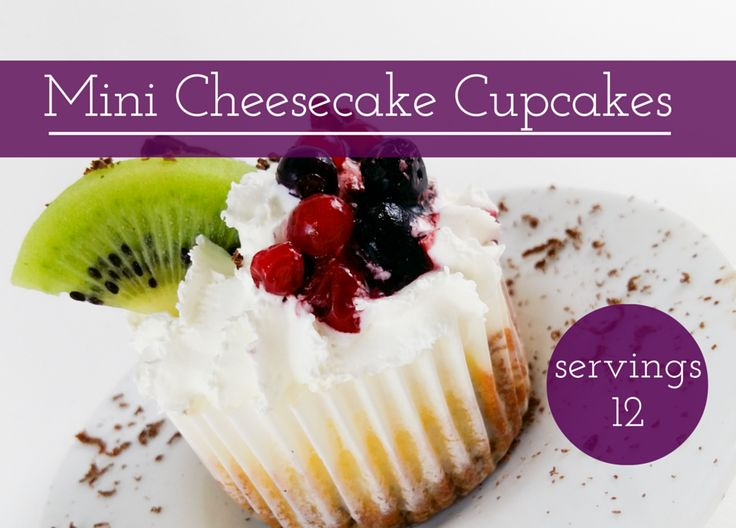 Mini Cheesecake Cupcakes. This delicious mouth watering treat has a lot of cheese, no flour and is ready in 30 min.