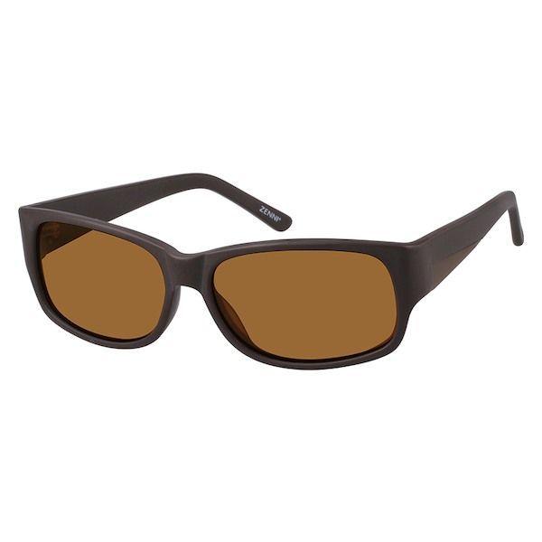 3ebb5493a5 Zenni Mens Sunglasses Brown Plastic A10120515