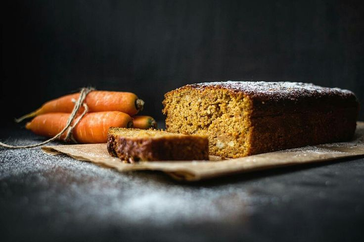 Carrot Plumcake / Dark Food Photgraphy