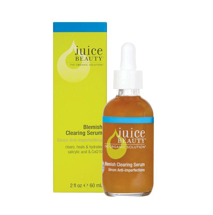 Juice Beauty Blemish Clearing Serum Puhdistava Seerumi  Seerumi, joka vähentää ihon epäpuhtauksia puhdistamalla ihohuokosia. Hoitaa aknea sekä kirkastaa ihon sävyä. Sopii erityisesti rasvaiselle ja sekaiholle sekä epäpuhtaalle iholle. Kätevän pipettipullon ansiosta helppo annostella. Pakkauskoko 60 ml.