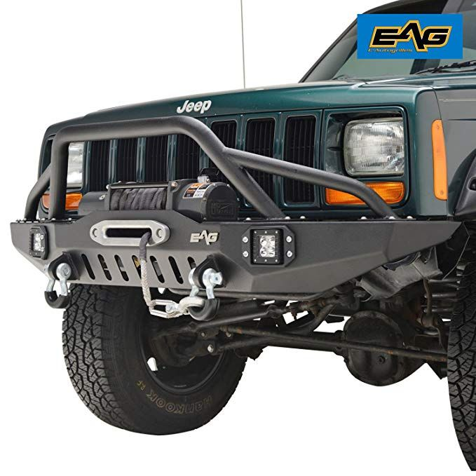 Eag Front Bumper With Led Lights For 83 01 Jeep Cherokee Xj Jeep