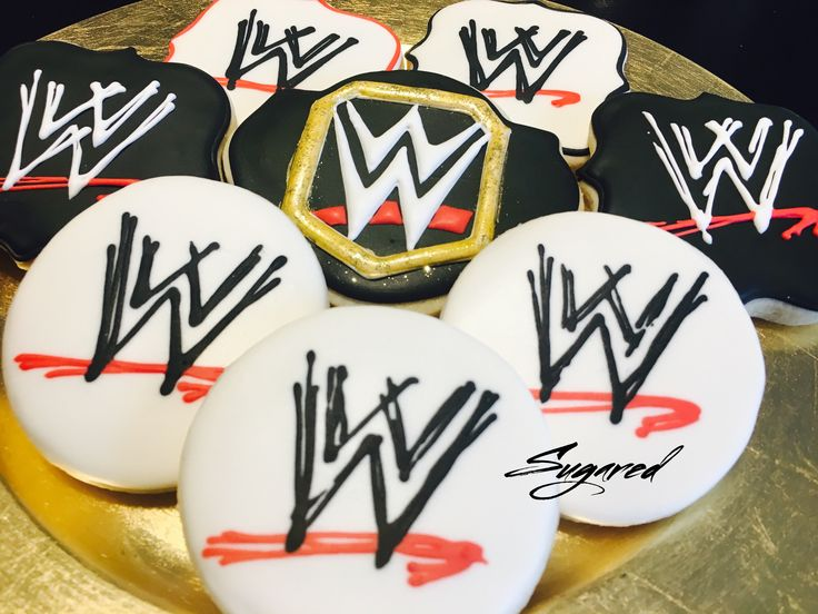 WWE Cookies Sugared Cookies and Sweets Inc