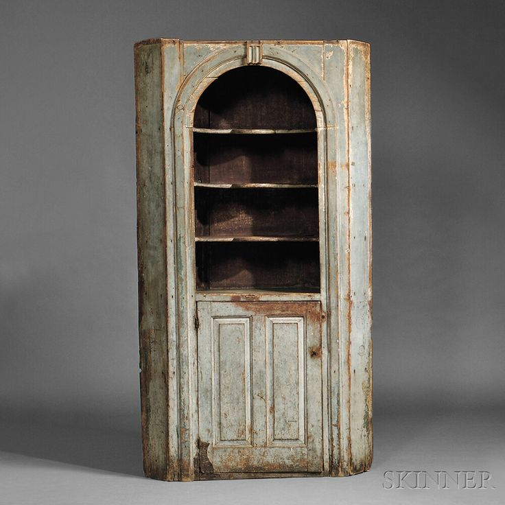 Blue-painted Pine Corner Cupboard, probably New Hampshire, mid-18th century, - 132 Best Corner Cupboards Images On Pinterest Corner Cupboard