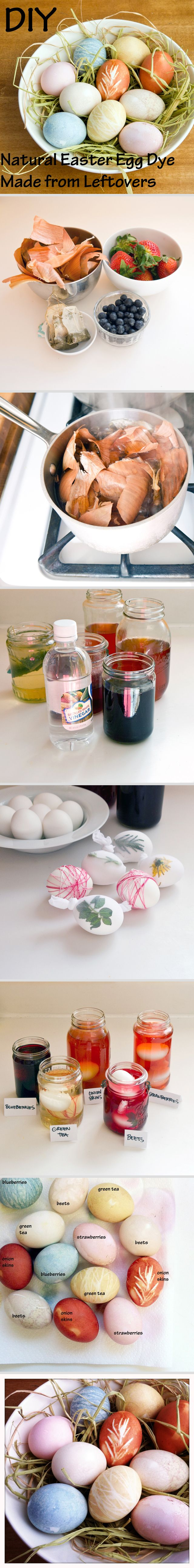 Teach your kids how to be eco-friendly and dye Easter eggs with leftovers this year!