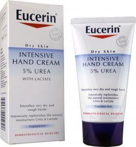 Eucerin Intensive Hand Cream 5 % urea: With Glycerin, Urea and Lactic acid.