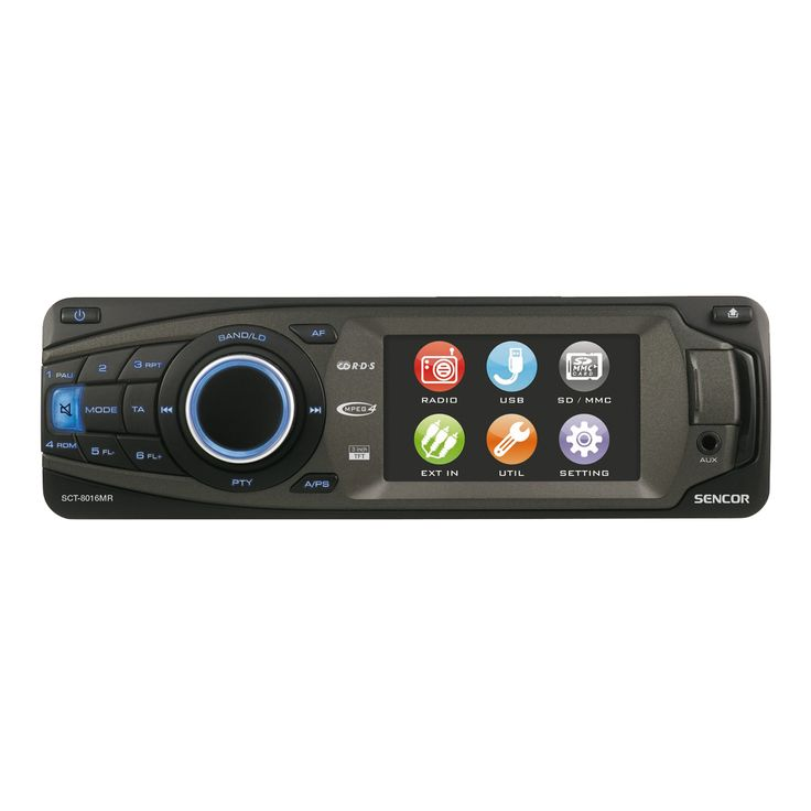 """SCT 8016MR - Car Radio with SD/USB and 3 """" Touch Screen LCD"""
