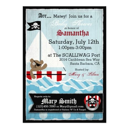 1000+ Images About Pirate Baby Shower Invitations On Pinterest