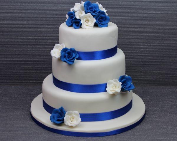 Wedding Cakes With Royal Blue Orange