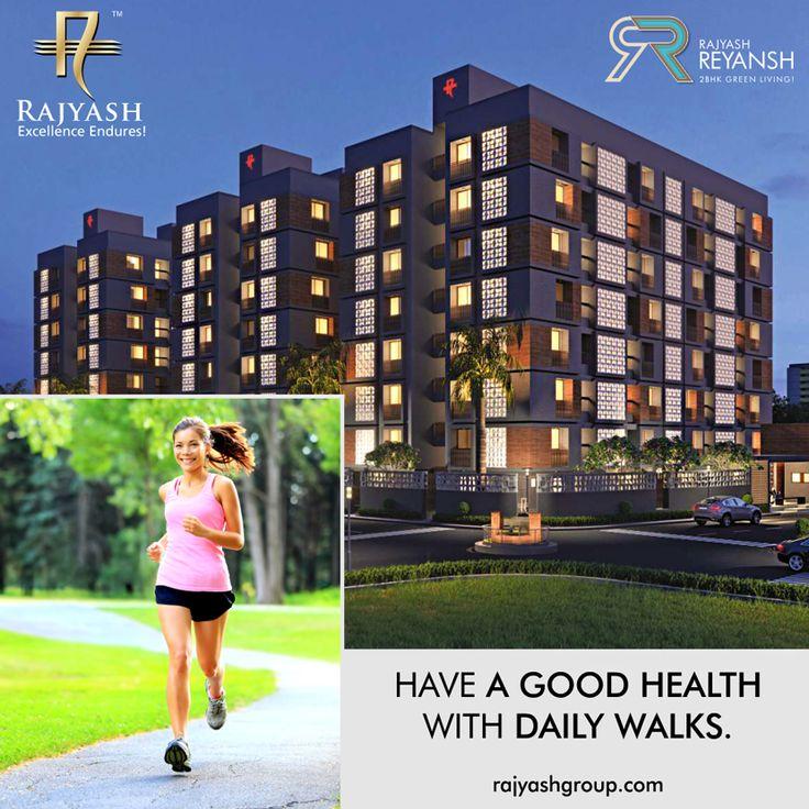 Have a good health with daily walks. We have built a special Jogging Track to keep you fit.  #RajyashReyansh #RajyashCity #RajYashGroup #RajYash #SouthVasna #Ahmedabad
