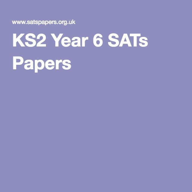 KS2 Year 6 SATs Papers
