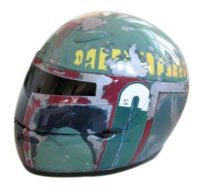 boba fett helmet 2 Boba Fett Motorcycle Helmet Looks Sinister and Cool
