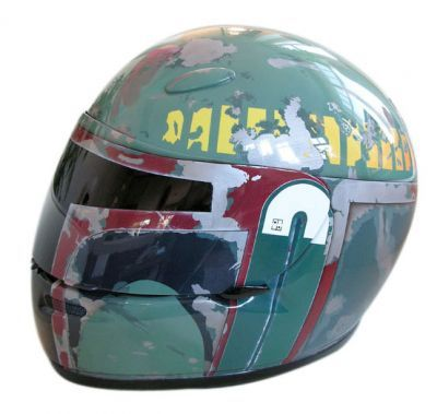 boba fett helmet 2 Boba Fett Motorcycle Helmet Looks Sinister and Cool