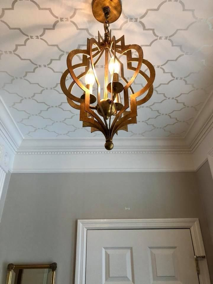 Pin On Stenciled Painted Ceilings