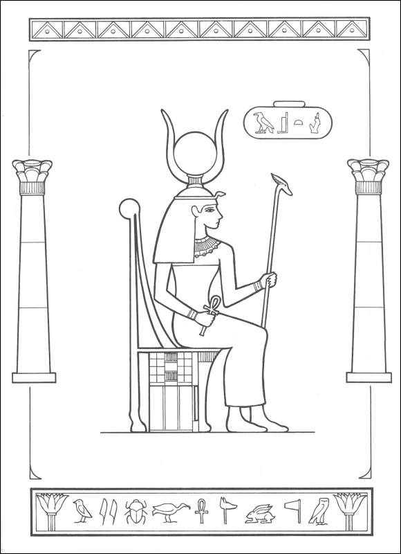 Gods Of Ancient Egypt Coloring Book Images
