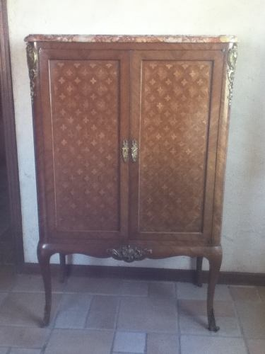 Mueble frances en marqueteria siglo xix 13 usd for Muebles vintage mexico