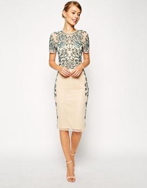 Enlarge ASOS Baroque Embellished Midi Shift Dress