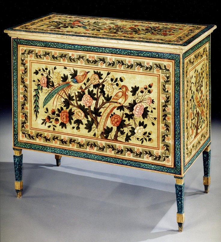 Elegant A Late 18th Century Italian Painted Commode