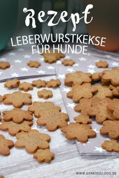 Hundekekse backen: Leberwurstkekse für Hunde Rezept auf www.genkibulldog.de