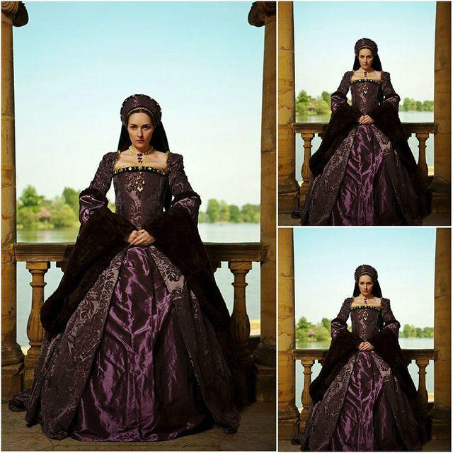 Freeship! Cliente-hecho 18 Siglo Vintage Vestidos Renacentistas vestido Steampunk Gótico Cosplay de Halloween Vestidos de Disfraces C-1176