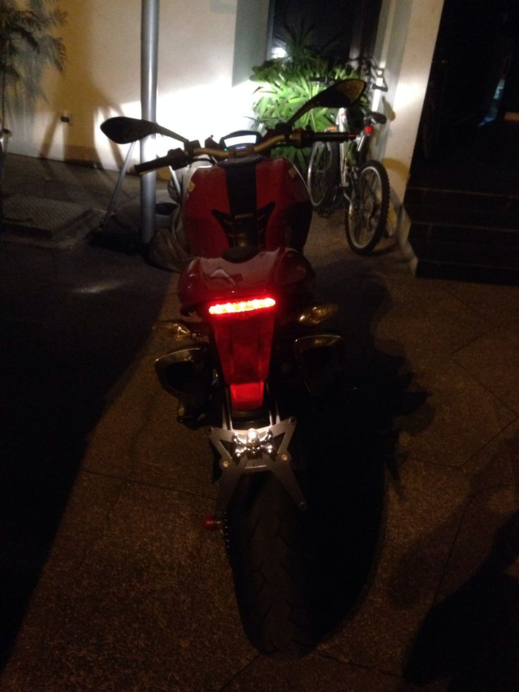 Ducati 796 at night
