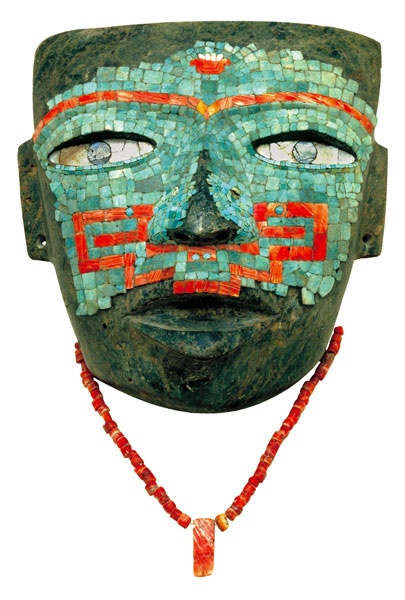 Aztec Mask ca 450  A prehispanic piece belonging to the exhibition Teotihuacan, City of Gods, is seen at the National Museum of Anthropology in Mexico City