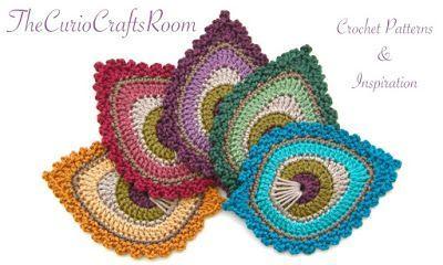 Mini peacock feather crochet pattern free