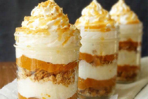 No-bake pumpkin pie in a jar