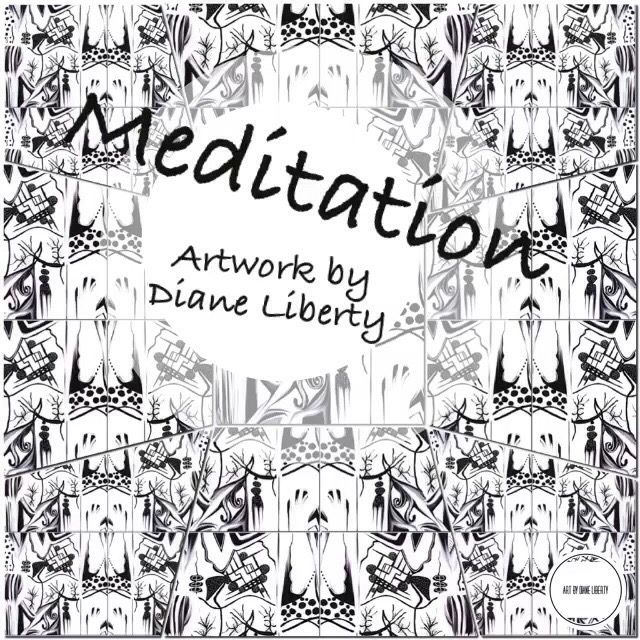 """Meditation"" artwork with a message series by Diane Liberty 🌾🌾🌾Reflect on your day. Daydream your future. Absorb the beauty of it all,"