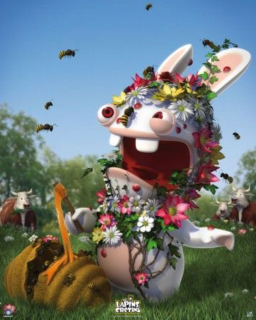 Raving Rabbids poster Spring http://www.abystyle-studio.com/en/raving-rabbids-posters/251-poster-affiche-lapins-cretins-printemps.html