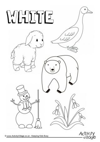 preschool colors coloring pages - photo#25