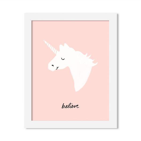 unicorn - 8 x 10 art print - JustGreet