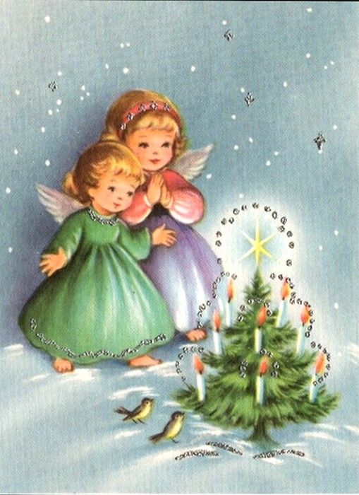 Old Christmas Post Сards —  Vintage (509x700)