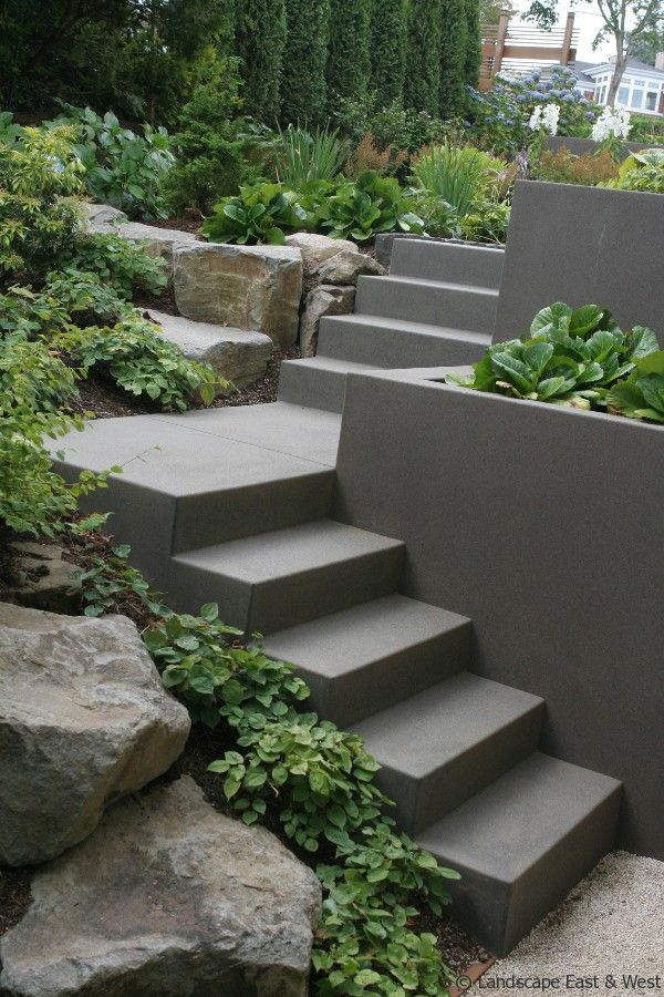Design Retaining Wall cheap simple back yard retaining wall and garden steps design with Portlan Landscaping Retaining Wall Design