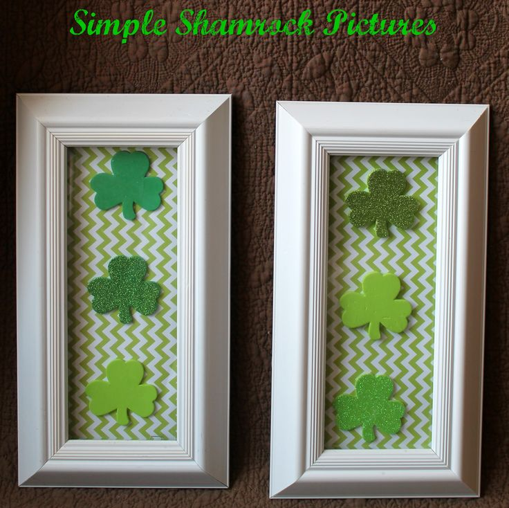 How to make Simple Shamrock Pictures for St. Patrick's Day! Only takes five minutes and are super cute!