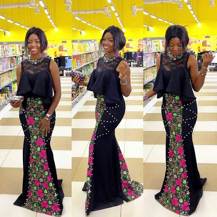 Dazzling Ankara Gowns : Ankara Ladies Styles
