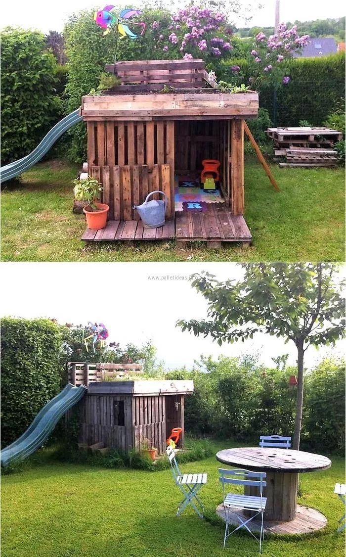 36 best Spielhaus images on Pinterest | Treehouse, Children garden ...