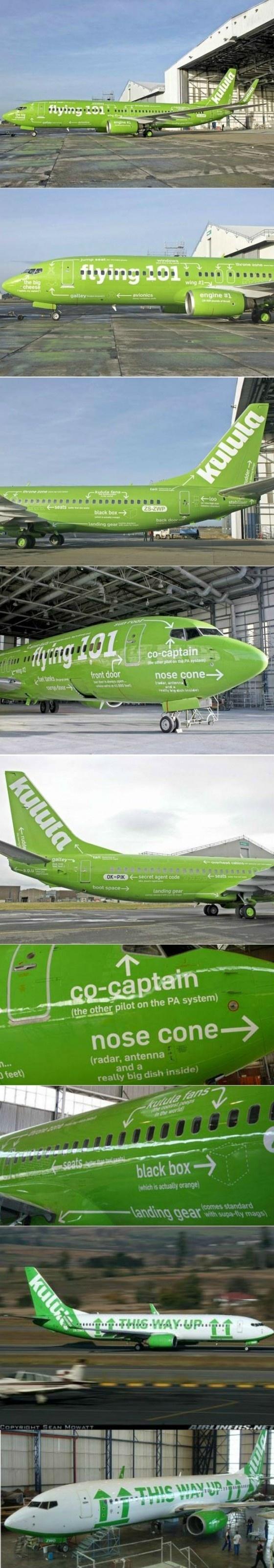 vliegtuig met duidelijke gebruiksaanwijzing