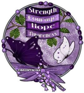 Fibromyalgia Awareness Day = May 12th  Unfortunately, my body is giving me a dose of flare for Fibromyalgia Awareness Day.  It can't be seen, but trust me - it can be felt.  :(