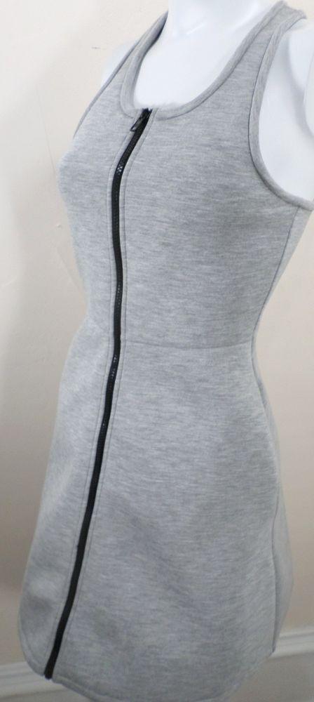 kate spade Saturday Scuba Zip Front Dress Racer Back Light Gray Women's XS NWOT #katespade #ShirtDress #Casual
