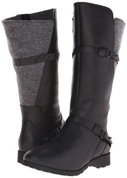 Teva Women's Delavina Wool Tall Boot, black Hiking Boots