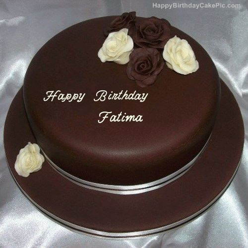 Rose Chocolate Birthday Cake For Fatima with name, Fatima Happy