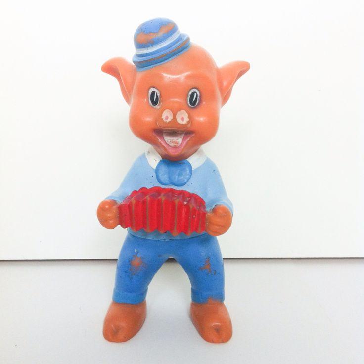 Vintage Rubber Toy. #vintagetoy #rubbertoy #squeakytoy #pouet #delacoste #ledraplastic #disneyana #aradeanca