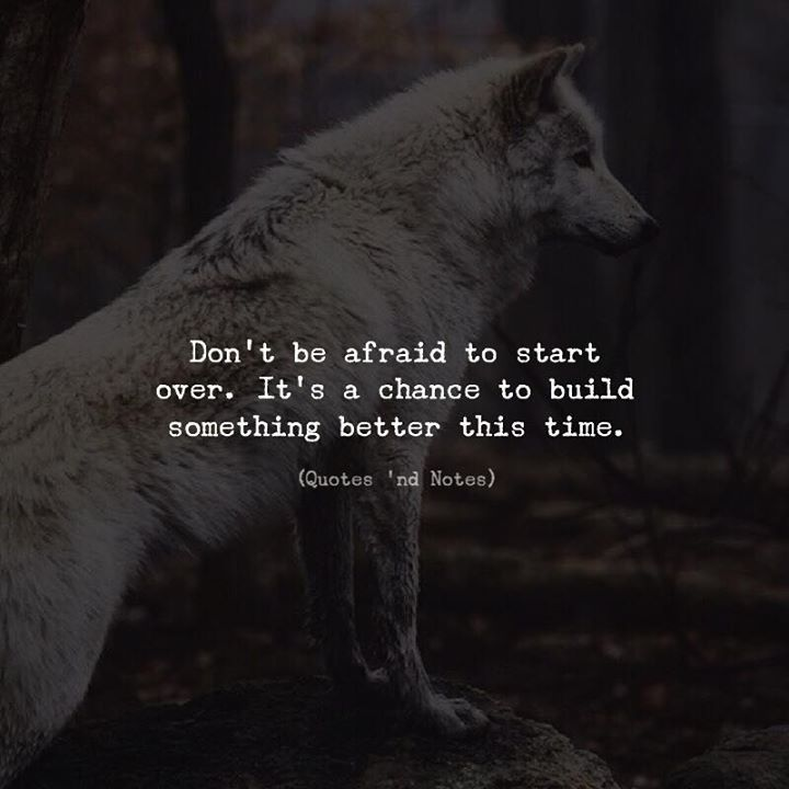 Dont be afraid to start over. Its a chance to build something better this time. via (http://ift.tt/2n3c8ml)